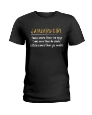 January Girl - Knows more than Ladies T-Shirt front