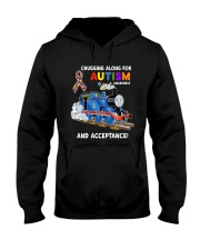 Chugging Along For Autism Awareness And Acceptance Hooded Sweatshirt thumbnail
