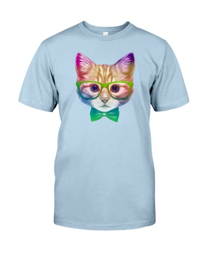 Rainbow Academicat - Skeptical Kitten