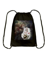 Catstronaut in Space Drawstring Bag thumbnail