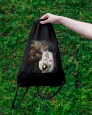 Catstronaut in Space Drawstring Bag lifestyle-drawstringbag-front-3