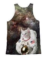 Catstronaut in Space All-over Unisex Tank back