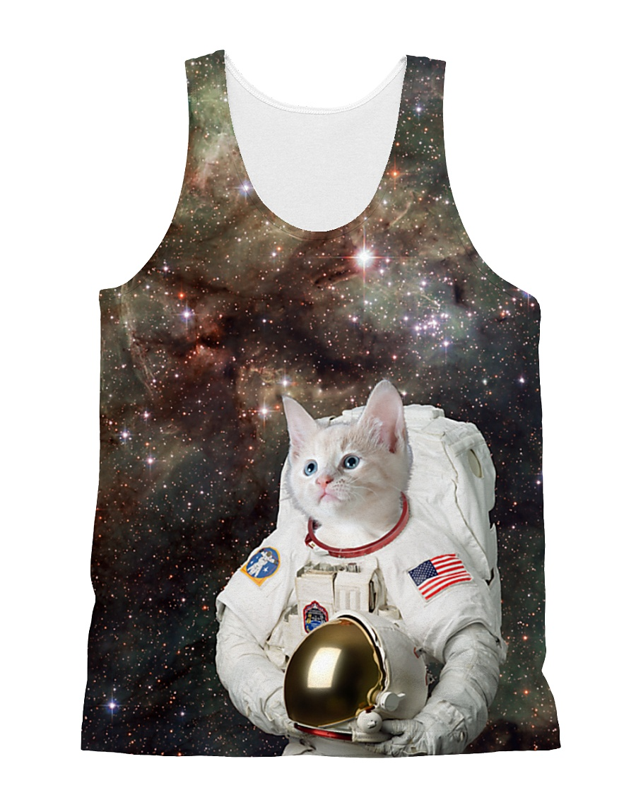 Catstronaut in Space All-over Unisex Tank