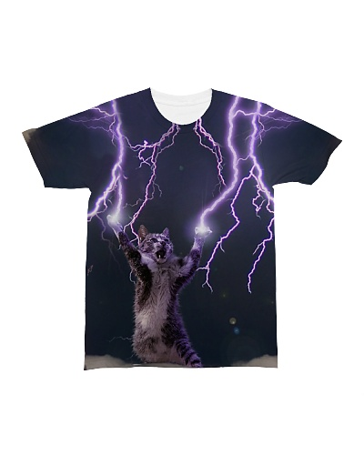 Lightning and Thunder cat shirt