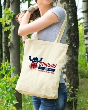 Cthulhu 2020 - The Greater of Two Evils Tote Bag lifestyle-totebag-front-4
