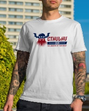 Cthulhu 2020 - The Greater of Two Evils Classic T-Shirt lifestyle-mens-crewneck-front-8