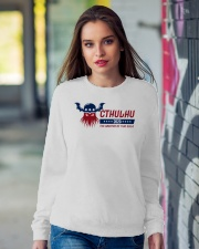 Cthulhu 2020 - The Greater of Two Evils Crewneck Sweatshirt lifestyle-unisex-sweatshirt-front-9