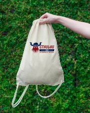Cthulhu 2020 - The Greater of Two Evils Drawstring Bag lifestyle-drawstringbag-front-3