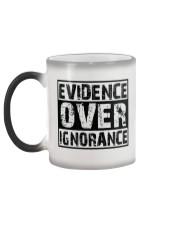 Evidence over ignorance  Color Changing Mug color-changing-left