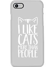 I like cats more than people shirt Phone Case thumbnail