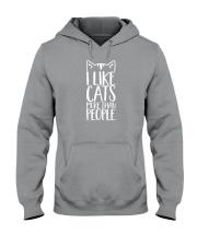 I like cats more than people shirt Hooded Sweatshirt thumbnail