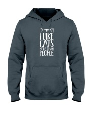 I like cats more than people shirt Hooded Sweatshirt front