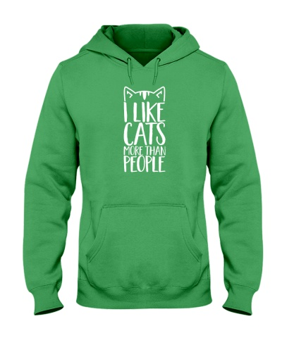 I like cats more than people shirt