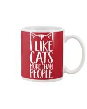 I like cats more than people shirt Mug thumbnail