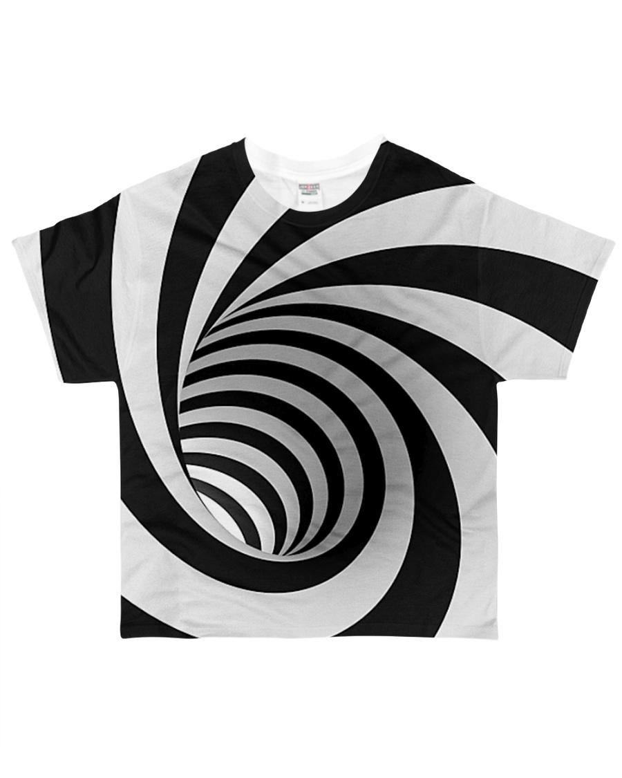 Hypnotic Spiral Wormhole Shirt All-over T-Shirt