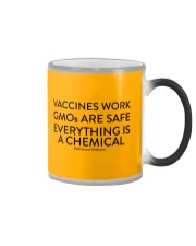 Vaccines work - GMOs are safe  Color Changing Mug tile