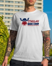 Cthulhu 2020 - Because NO lives matter Classic T-Shirt lifestyle-mens-crewneck-front-8