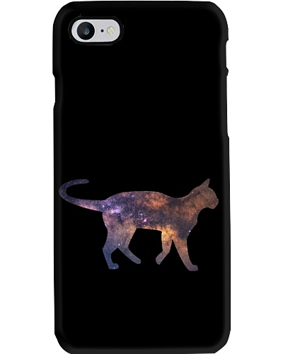 Galaxy Cat Silhouette