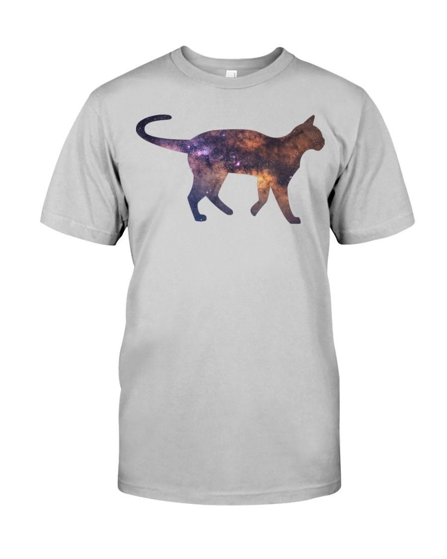 Galaxy Cat Silhouette Classic T-Shirt