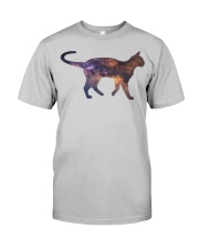 Galaxy Cat Silhouette Classic T-Shirt front