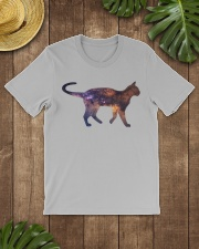 Galaxy Cat Silhouette Classic T-Shirt lifestyle-mens-crewneck-front-18
