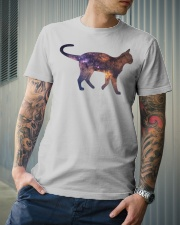 Galaxy Cat Silhouette Classic T-Shirt lifestyle-mens-crewneck-front-6