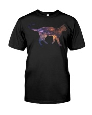 Galaxy Cat Silhouette Classic T-Shirt tile
