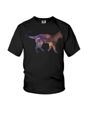 Galaxy Cat Silhouette Youth T-Shirt tile