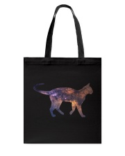 Galaxy Cat Silhouette Tote Bag thumbnail
