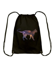 Galaxy Cat Silhouette Drawstring Bag thumbnail