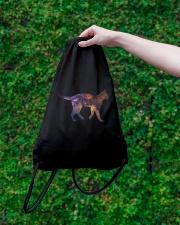 Galaxy Cat Silhouette Drawstring Bag lifestyle-drawstringbag-front-3