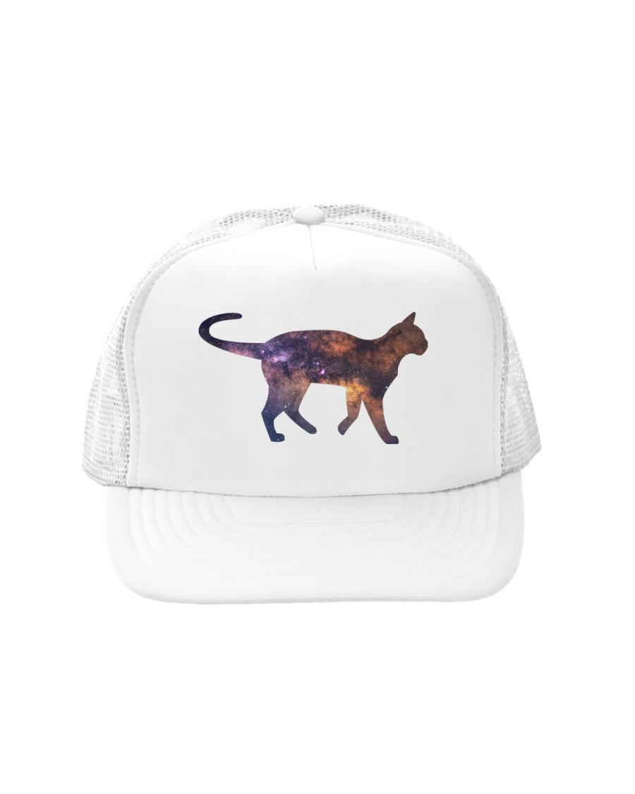 Galaxy Cat Silhouette Trucker Hat