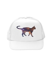 Galaxy Cat Silhouette Trucker Hat thumbnail