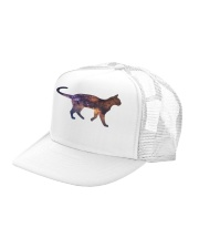 Galaxy Cat Silhouette Trucker Hat left-angle