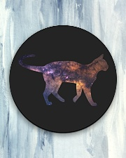 Galaxy Cat Silhouette Circle Coaster aos-coaster-round-front-lifestyle-5