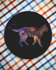 Galaxy Cat Silhouette Circle Coaster aos-coaster-round-front-lifestyle-8