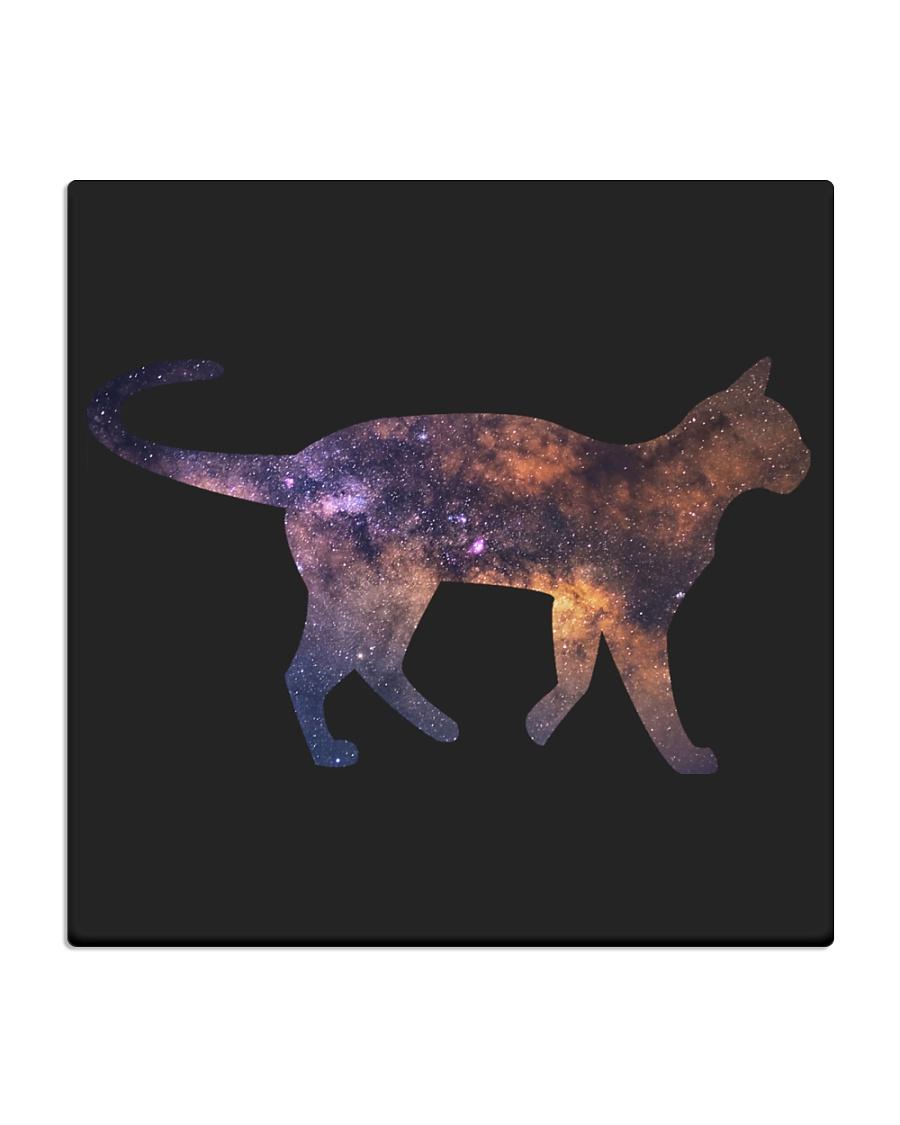 Galaxy Cat Silhouette Square Coaster