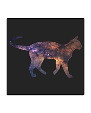 Galaxy Cat Silhouette Square Coaster thumbnail