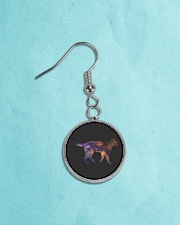 Galaxy Cat Silhouette Circle Earrings aos-earring-circle-front-lifestyle-8