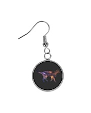 Galaxy Cat Silhouette Circle Earrings tile