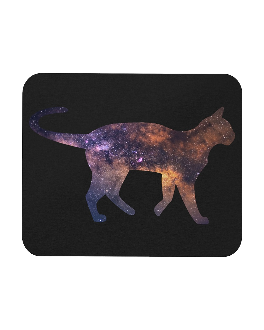 Galaxy Cat Silhouette Mousepad