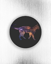 Galaxy Cat Silhouette Circle Magnet aos-magnets-round-front-lifestyle-4