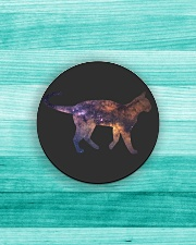 Galaxy Cat Silhouette Circle Magnet aos-magnets-round-front-lifestyle-5