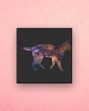 Galaxy Cat Silhouette Square Magnet aos-magnets-square-front-lifestyle-2