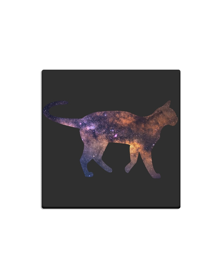 Galaxy Cat Silhouette Square Magnet