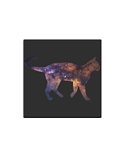 Galaxy Cat Silhouette Square Magnet thumbnail