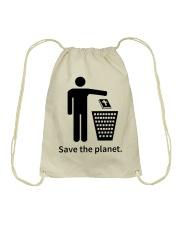 Save the planet - dump religion Drawstring Bag thumbnail