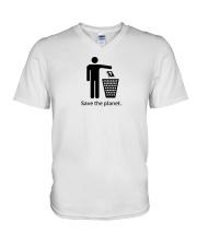 Save the planet - dump religion V-Neck T-Shirt thumbnail