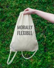 Morally Flexible Drawstring Bag lifestyle-drawstringbag-front-3