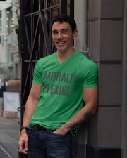 Morally Flexible V-Neck T-Shirt lifestyle-mens-vneck-front-1